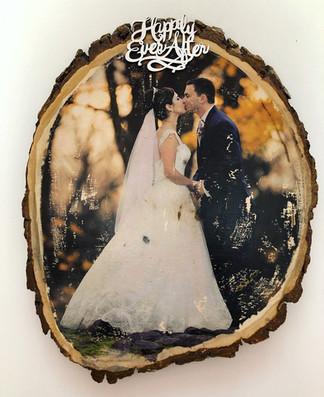 wedding photo wood print