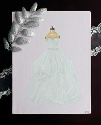 wedding dress painting gift