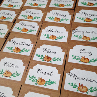 hand painted guest cards