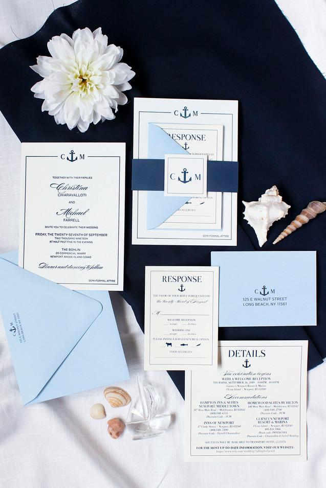 rhode island wedding invitation