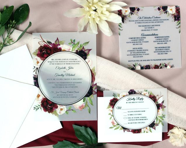 vellum paper wedding invitation