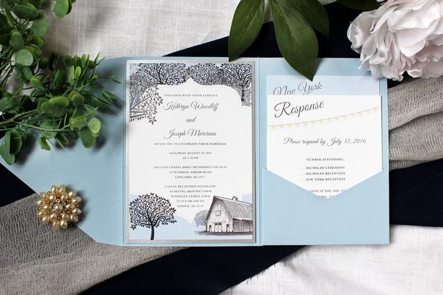 country wedding invitation