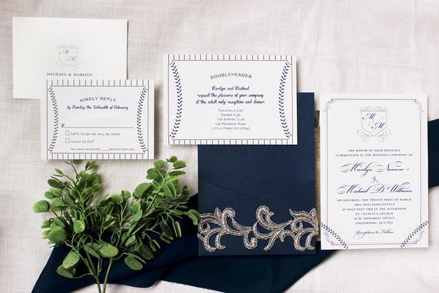 yankees wedding invitation