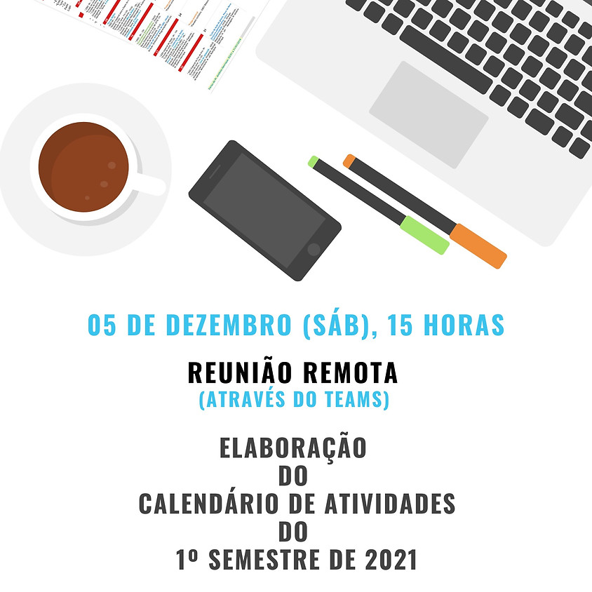 Reunião para elaboração do calendário de atividades - 1o. semestre de 2021