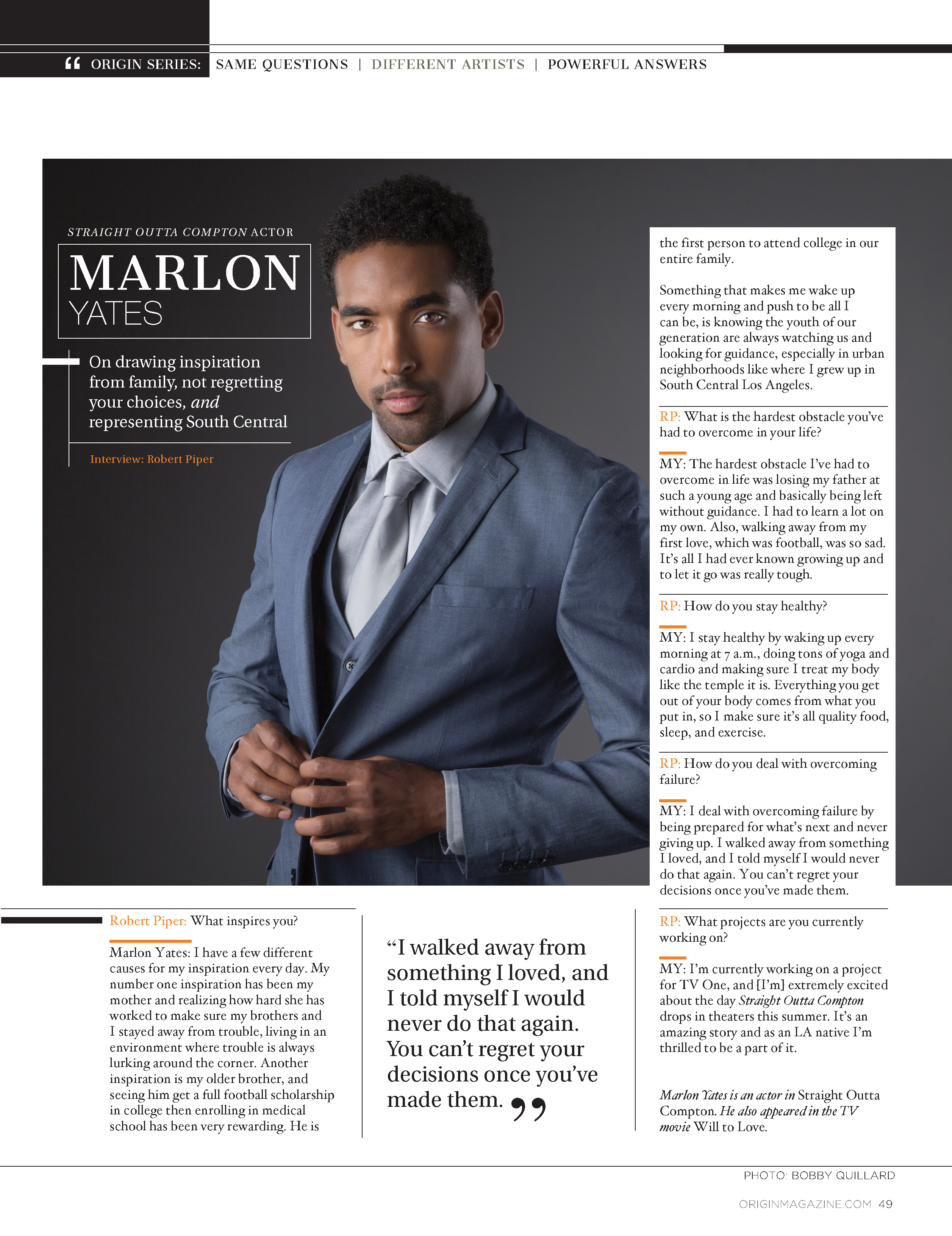 Marlon Yates - ORIGIN Magazine