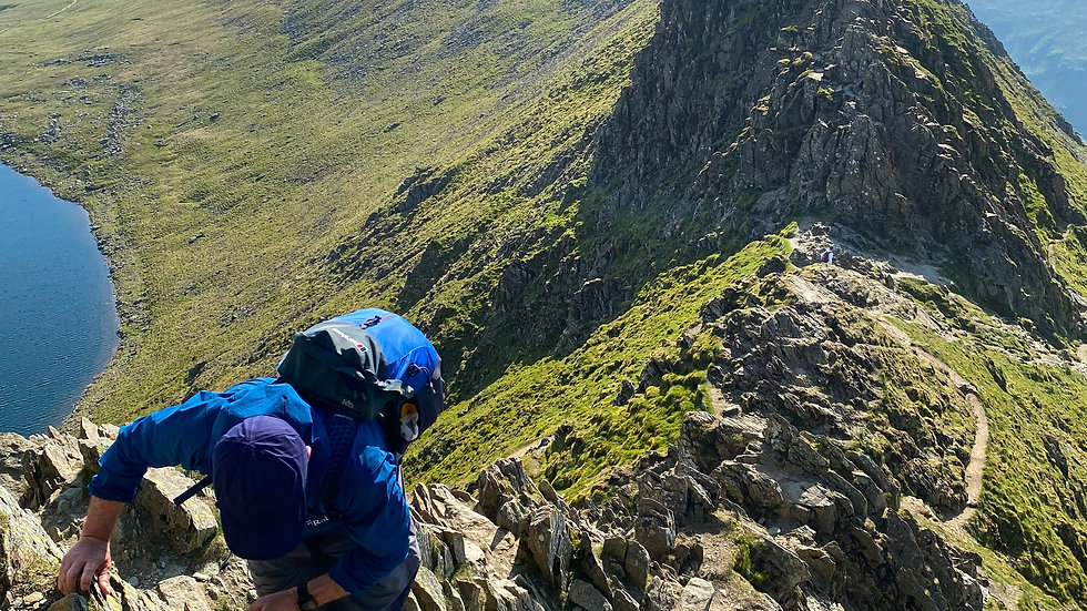 Helvellyn via the edges from Glenridding - Wed 18th Aug, 2021