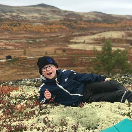 Bjørnemyr skole: Full fres i flotte høstfarger