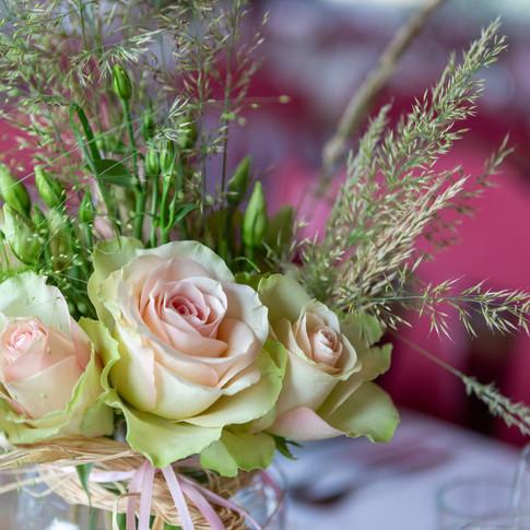 Blomster i duse farger