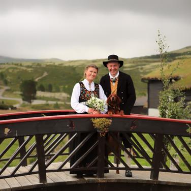 Vertskapet giftet seg på Høvringen august 2019