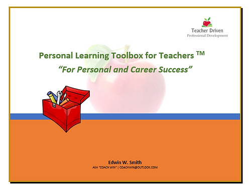 Personal Learning Toolbox for Teachers