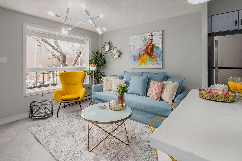 apartment living room design toronto