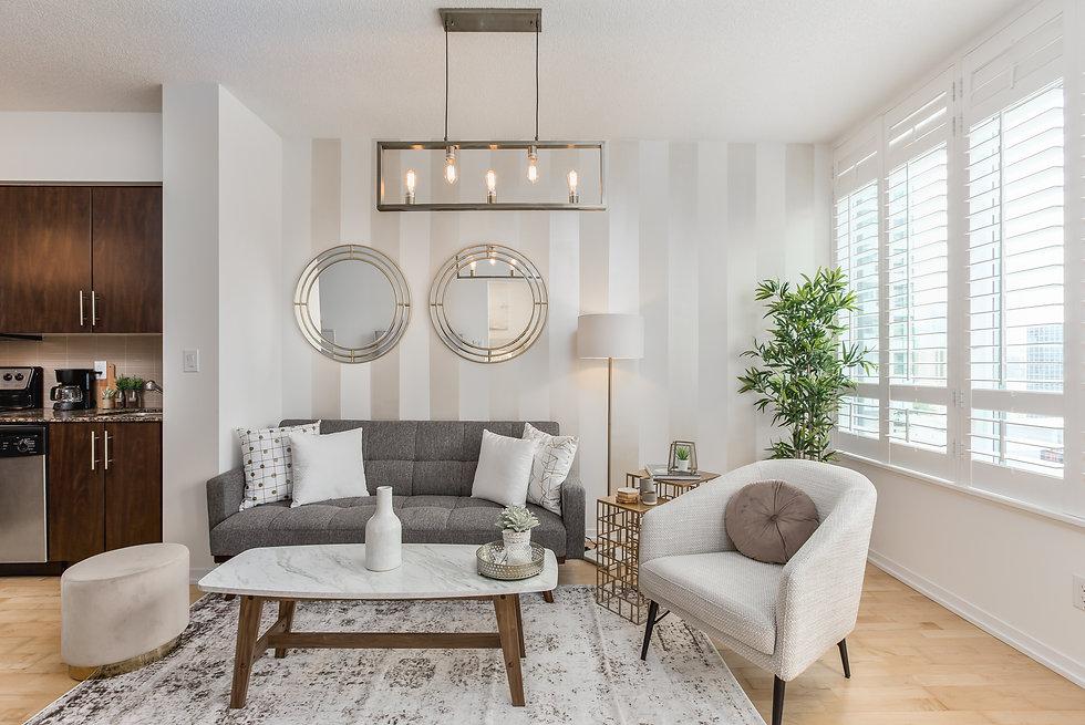 condo livingroom design toronto