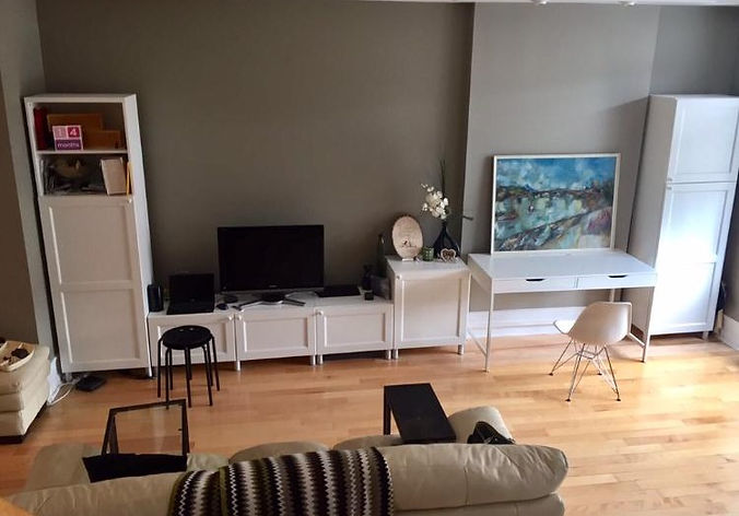 living room before makeover