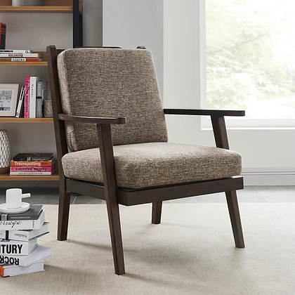 Riga Accent Chair in Brown and Walnut