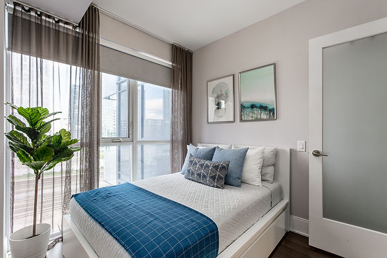 Home styling of a downtown condo