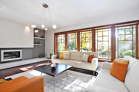 Staged livingroom
