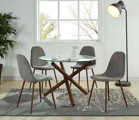 AR-Rocca/Lyna 5pc Dining Set