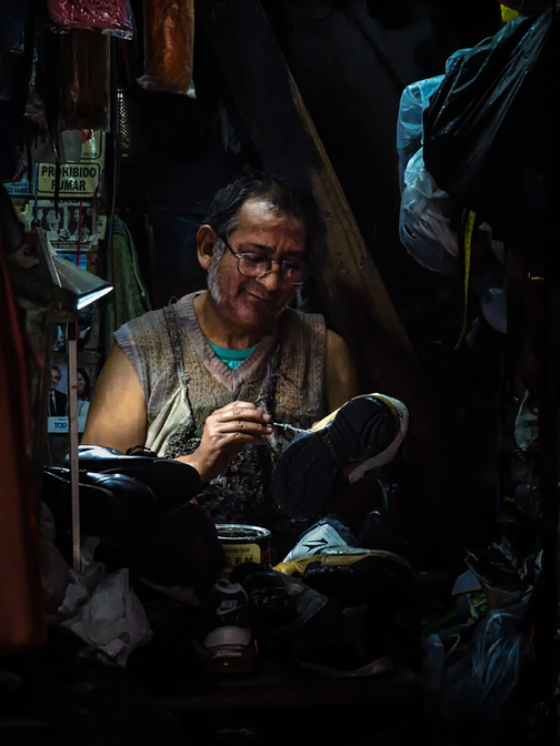 The shoemaker's smile