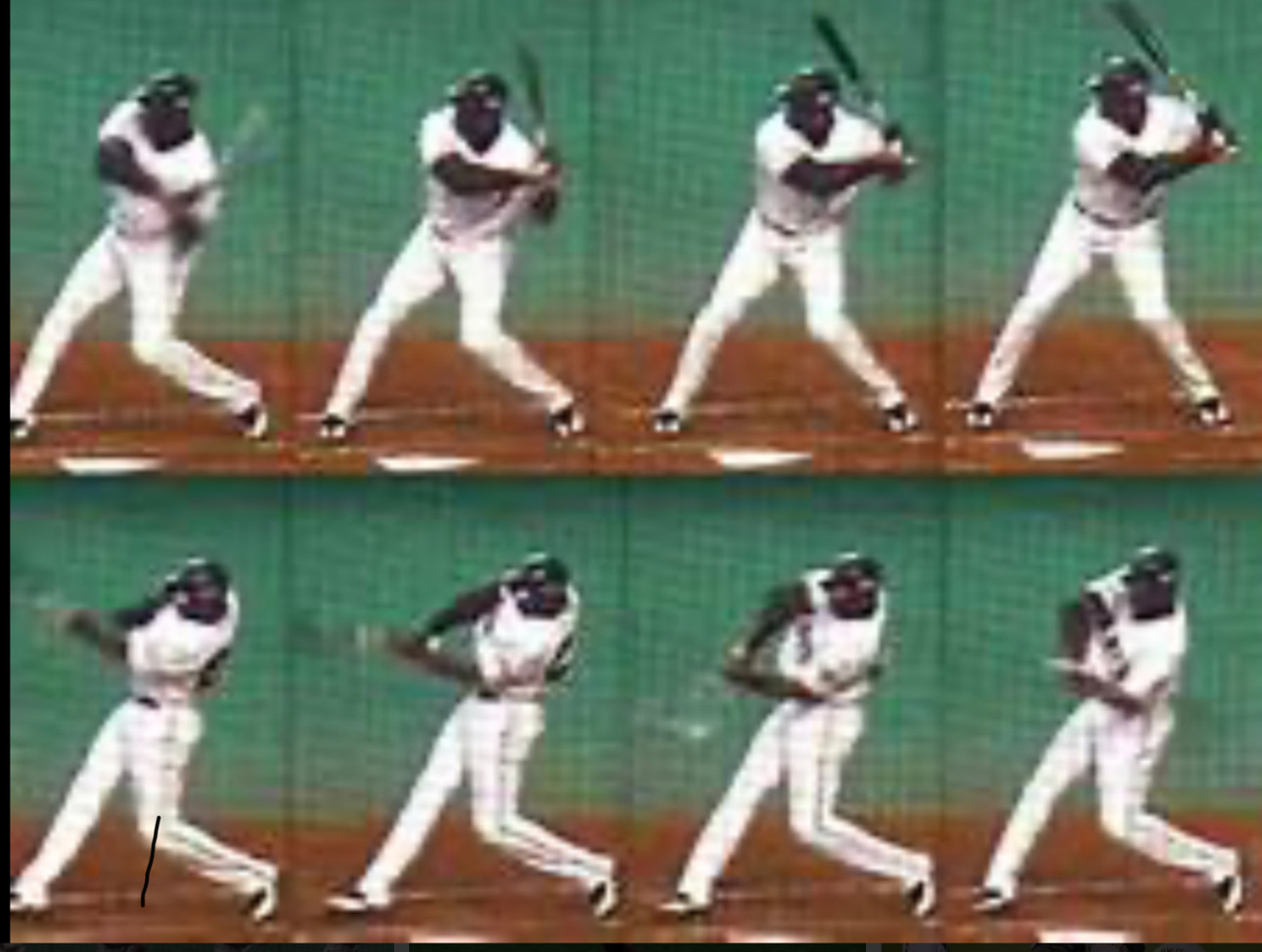 Barry Bonds swing sequence