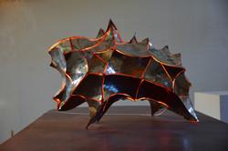 自塑像 자화상  90-65-45cm   不锈钢-照明 2017