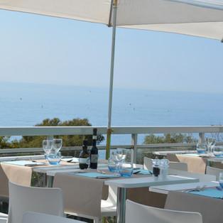 Restaurant le Masters - La terrasse vue mer