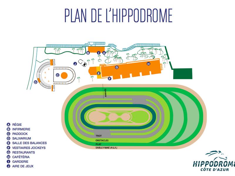 Plan de l'Hippodrome Côte d'Azur