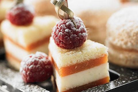 Dessert framboise - Livraison Pavillon Traiteur