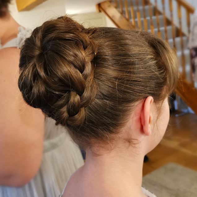 Mini Bridesmaid Hair