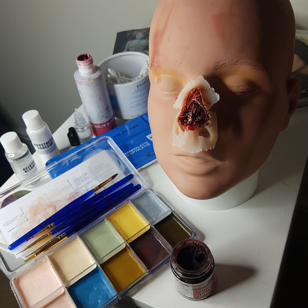 Shredded Nose Prosthetic