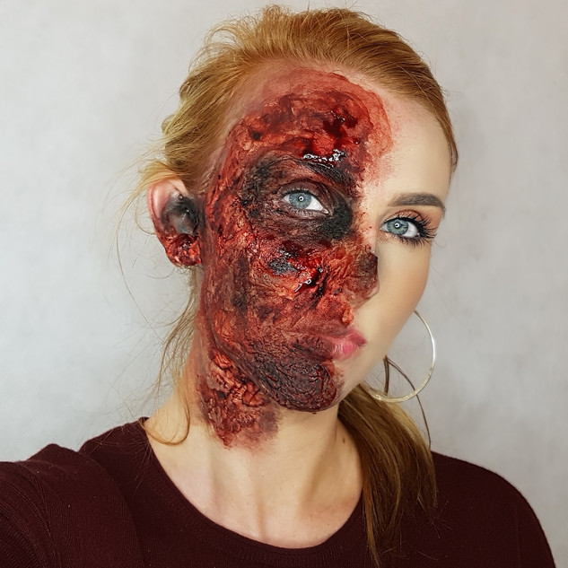 'Harvey Dent' Halloween Makeup