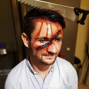 'Fresh Wound' Halloween Makeup