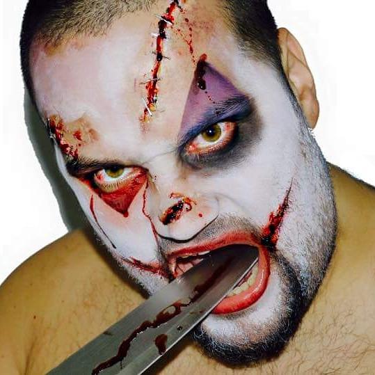'Scary Clown' Halloween Makeup
