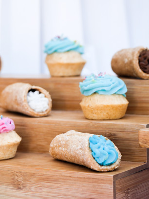 Cannolis and pupcakes
