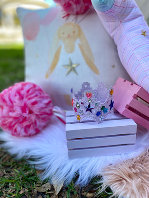 Pastel Delights Theme and Birthday Lace Crown