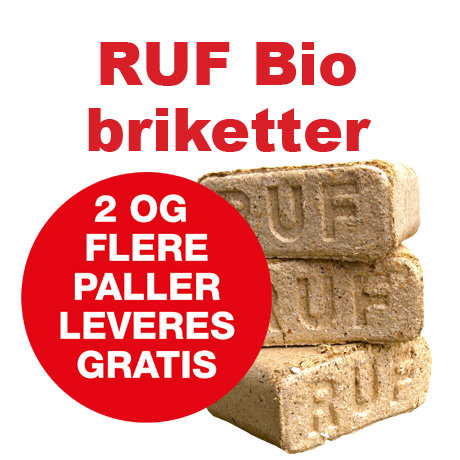 Lyse RUF bio-briketter