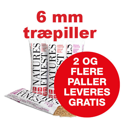 6 mm Nature Finest træpiller