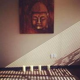 Budda and Sun Rays