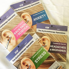 Condition-Specific Ear Seeds Kits for Back Pain, Anxiety, Stress, and Headaches & Migraines