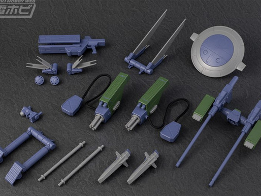 P-BANDAI: MISSION PACK E TYPE & S TYPE FOR MG 1/100 GUNDAM F90 SAMPLE IMAGES BY DENGEKI HOBBY