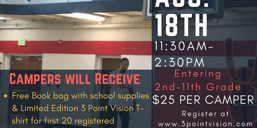 Be Encouraged Back 2 School Basketball Camp