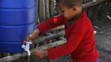 Handwaschmöglichkeit errichtet