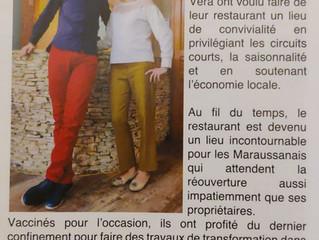 Extrait du journal de la Ville de Maraussan distribué cette semaine.