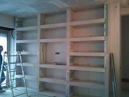 ristrutturazioni  libreria in cartongesso