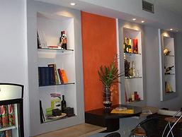 Ristrutturazioni  ristrutturazione d'interni nicchie in cartongesso pareti attrezzate cartongesso,