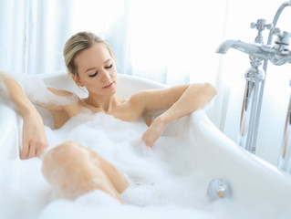 Having a soak in the bath an hour and a half before bedtime helps you sleep better