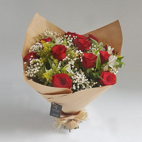 Buquê 12 rosas Importadas