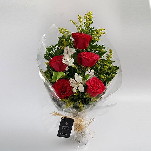 Ramalhete 05 Rosas Importadas
