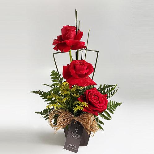 Arranjo 3 Rosas Importadas