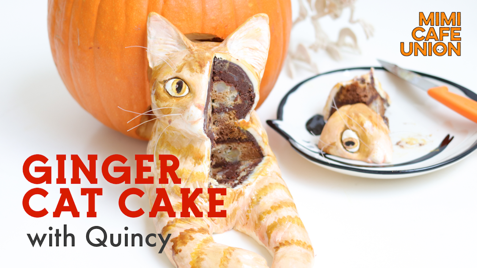 GINGER CAT CAKE with Quincy
