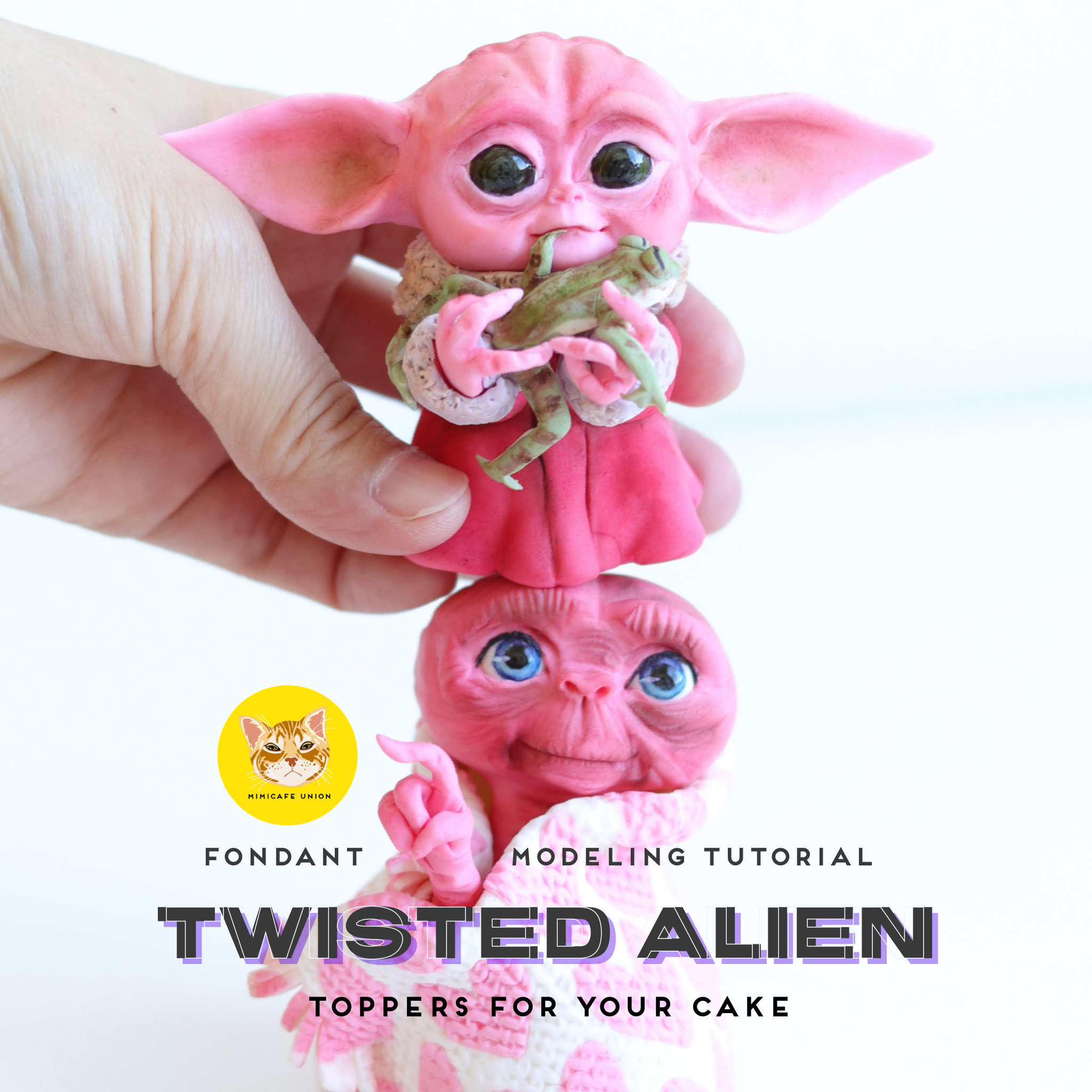 TWISTED ALIEN TOPPERS ON YOUR CAKE